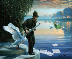 Art surrealiste de Michael Cheval