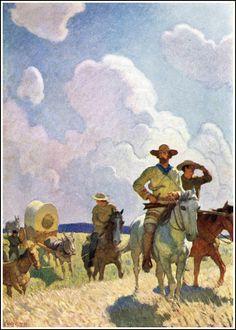 N.C. Wyeth ~ 'The Oregon Trail'