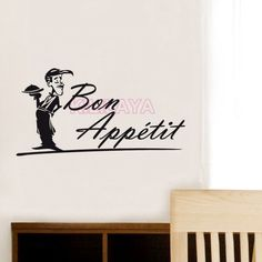 Aliexpress.com : Buy Stickers French Bon appetit Cuisine Vinyl Wall Decals Wall Art Wallpaper Wall Sticker Kitchen Tile Decal Home Decor Decoration from Reliable decorative door curtains home decor suppliers on Kililaya