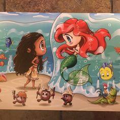 Cute Disney Drawings, Cute Cartoon Drawings, Art Drawings Sketches Simple, Easy Drawings, Ariel Wallpaper, Cute Disney Wallpaper, Arte Disney, Disney Fan Art, Moana Drawing