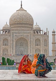 Color at the Taj Mahal