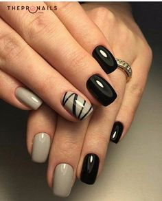 Other traditional colors: #black and #white #manicure #inspiration #nails