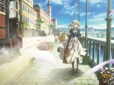 In addition to the last three episodes, the to the last fourth DVD/Blu-ray volume of the TV anime adaptation of Kana Akatsuki's fantasy light novel series Violet Evergarden also includes a Violet Evergarden Gilbert, Violet Evergarden Wallpaper, Violet Evergreen, Manga Anime, Anime Art, Violet Evergarden Anime, Graphisches Design, Design Ideas, Kyoto Animation