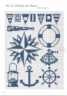 Motivos marineros punto de cruz - Imagui