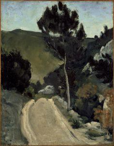 CEZANNE,1866 - Route tournante en Provence« Il y a des motifs qui demanderaient trois ou quatre mois de travail, qu'on pourrait trouver, car la végétation n'y change pas. Ce sont des oliviers et des pins qui gardent toujours leurs feuilles…. » (CEZANNE à Pissarro, L'Estaque, 2 juillet 1876)