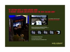 nz army arcade game recruitment marketing