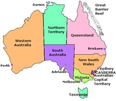Australia States And Capitals