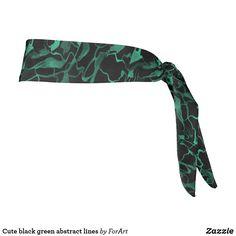 Cute black green abstract lines tie headband Tie Headband, Black Headband, Headbands, Abstract Lines, Party Hats, Green, Cute, Head Bands, Kawaii