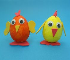 Make your own chicks out of our polystyrene mini easter eggs!!!