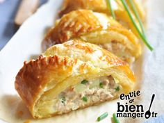 Roulé au thon et Rondelé Citron Givré - - Herb Recipes, Cooking Recipes, Healthy Recipes, Healthy Food, Tapas, Good Food, Yummy Food, Salty Foods, Quiches