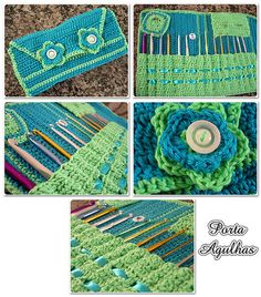 #Tutorial : Crochet Hook Caddy (will need to translate from Turkish to English).  Some charts and pattern instructions