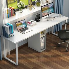 30 Inspiring Double Desk Home Office Design Ideas Home Office Design, Home Office Decor, Home Decor, Office Desk, Kids Office, Family Office, Study Office, Work Desk, Desk For Two