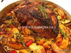 Roast Pork With Sage, Honey & Thyme