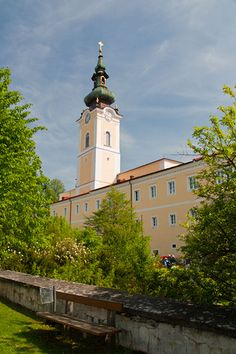 """Founded in the monastery at Schlägl is called the """"Jewel of the Mühlviertel"""" region. It's library contains volumes, and it's brewery (founded in still ensures the economic stability of the settlement. Heart Of Europe, Salzburg, Kirchen, Cathedrals, Stability, Brewery, Jewel, Most Beautiful, Tours"""