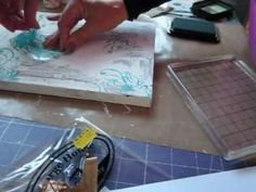 How to - mixed media canvas part 3 - YouTube