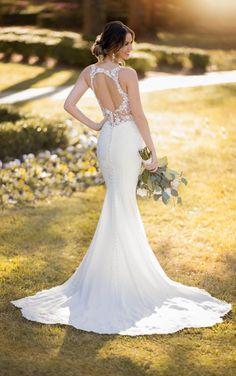 6f2ae05ebe1 Modern Crepe Wedding Dress with Scalloped Train - Stella York Wedding  Dresses