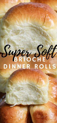 Sweet Dinner Rolls, No Yeast Dinner Rolls, Classic Dinner Rolls Recipe, Gluten Free Dinner Rolls, Soft Rolls Recipe, Sweet Roll Recipe, Brioche Rolls, Brioche Bread, Bread Recipes