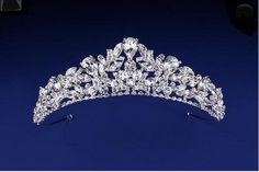 Just stunning!  Elegant Teardrop Rhinestone Wedding Tiara - Affordable Elegance Bridal -
