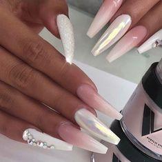 Nail Shapes - My Cool Nail Designs Perfect Nails, Gorgeous Nails, Pretty Nails, Acrylic Nail Shapes, Acrylic Nails, Fake Nails Shape, Stiletto Nails, Gel Nails, Glitter Nails