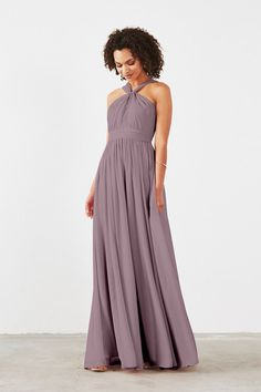 Dove & Dahlia Cora Bridesmaid Dress in Mauve in Chiffon