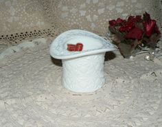 Leo Ladys Loot offers Vintage-Daisy-Button-Indiana-Milk-Glass-Holder-Top-Hat-Planter-Candle-Holder