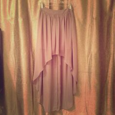 NWT HIGH LOW SKIRT asos New with tag • high low • chiffon inspired • skirt • great for get togethers! ASOS Skirts High Low