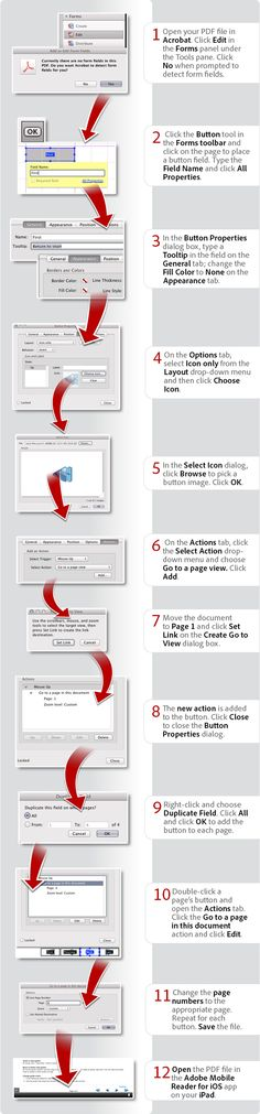 How to create navigation buttons for iPad APPS Pinterest - action form in pdf