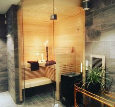 Indoor Jacuzzi, Sauna Steam Room, Spa Rooms, New Homes, Backyard, Interior Design, Bathroom, House, Ideas