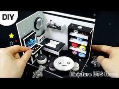 Army Bedroom, Bts Polaroid, Mini Doll House, Miniature Rooms, Cute Charms, Doll Shop, Bts Fans, Diy Dollhouse, Paper Toys