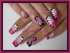 Flower Butterfly - Nail Art Gallery by NAILS Magazine