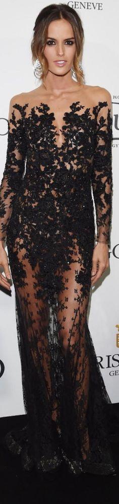 Izabel Goulart wearing Zuhair Murad at the 2015 Cannes Film Festival