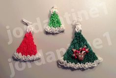 How To Make A Rainbow Loom Christmas Santa Hat Charm - Part 2