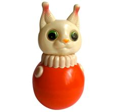 Ancien jouet culbuto - vintage russian roly poly cat toy