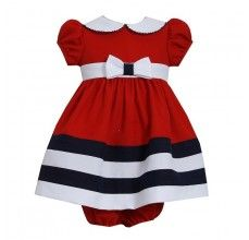 Nautical-Inspired Dress - Red