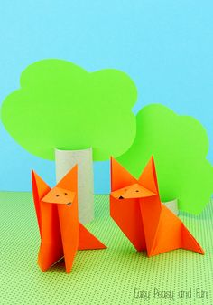 Origami Fox - Origami for Kids - Easy Peasy and Fun