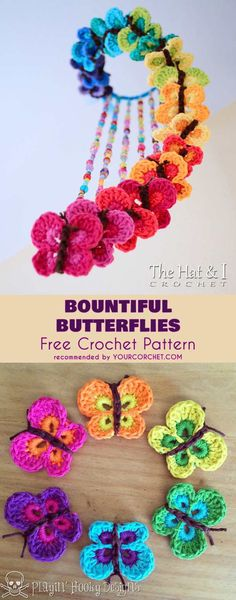 Bountiful Butterflies Mobile Free Crochet Pattern | Your Crochet