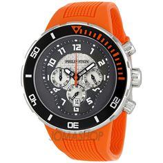 Philip Stein Extreme Dark Grey Dial Rubber Strap Mens Watch 33-XBOGR-RO $350.99