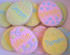 Easter egg cookies, personalized Eggs