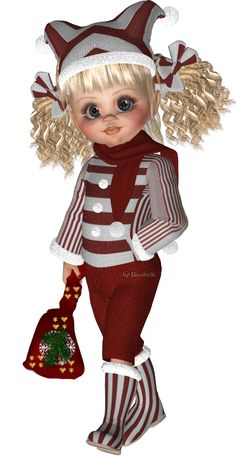 ✿GS✿⊱╮ Pretty Dolls, Cute Dolls, Beautiful Dolls, Christmas Mix, Christmas Fairy, Cute Baby Drawings, Christmas Characters, Little Designs, Vintage Girls