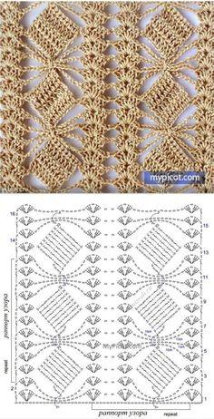 Define and symbols for crochet an openwork sample. by sara Crochet Scraf Looks like flower in a trellis. Crochet Shawl Diagram, Crochet Lace Edging, Crochet Motifs, Crochet Stitches Patterns, Crochet Chart, Diy Crochet, Knitting Patterns, Crochet Baby, Crochet Doily Rug
