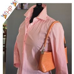 🎉HP🎉 🍊J.Crew Stripe Button Down Shirt🍊 🍊J.Crew Stripe Button Down Shirt🍊 Perfect Condition 🍊 Purse Included!🍊 J. Crew Tops Button Down Shirts
