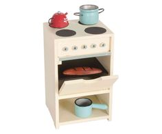 This adorable Wooden Stove with Utensils from Maileg is a gorgeous role play addition to your Maileg collection. The stove comes with a sauce pan, a kettle, a pot and bread. Maileg Bunny, Mini Stove, Kids Boutique, Herd, Wooden Kitchen, Doll Furniture, Pallet Furniture, Kitchen Cart, Little Houses