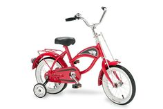 Make your kid the envy of the block with this cruiser kids bike. Its chrome details, sweet red finish, and white wall tires show that your cruisin' kiddo is too legit to quit. With removable training wheels, this bike will grow up with your kid, too! 🚲