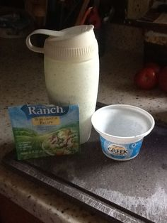 "I tried the recipe for ranch dressing I found on pinterest and it was pretty good. I tried two 6oz containers of plain Greek yogurt and 1/4 cup milk with the Hidden Valley Buttermilk Ranch dressing mix and it was even better. Just sharing. I know everyone's tastes are different, but I wanted to ""give back"" to the pinterest community. I love Pinterest!"