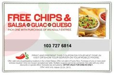 Pick Your FREEbie At Chili's!
