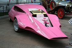 The Pink Panther-mobile by chalkie, via Flickr-reminds me of the Batmobile