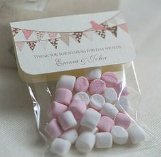personalised bunting wedding favour bags by beautiful day | notonthehighstreet.com