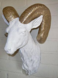 Faux Taxidermy / Ram Head / Animal Head