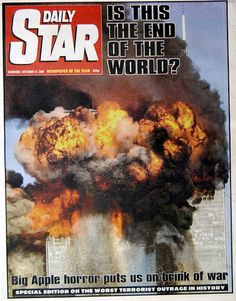 Daily Star newspaper front September 12 2001>September 11 remembered: Shocking death toll of Brits since 9/11 | Daily Star..sep16