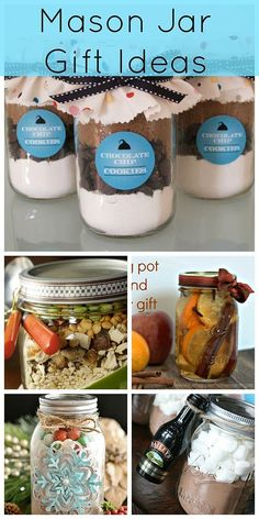 A collection of mason jar gifts for the holidays. See all the details at Creative Ramblings http://www.creativeramblingsblog.com/mason-jar-gift-roundup